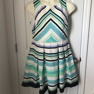Danny and Nicole Striped Fit and Flare Dress 14